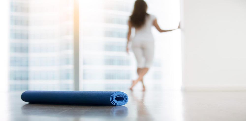 Lady & Yoga Mat