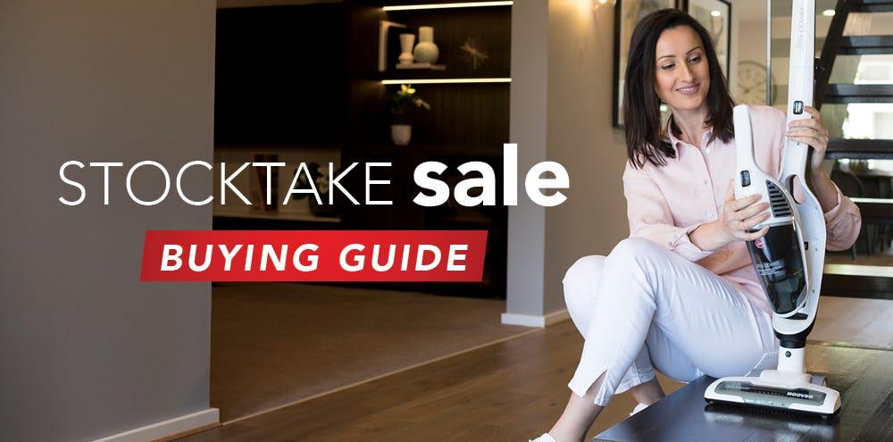 Stocktake sale buying guide