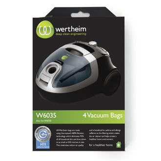 Wertheim W5030-7000 Vacuum Bags 4pk