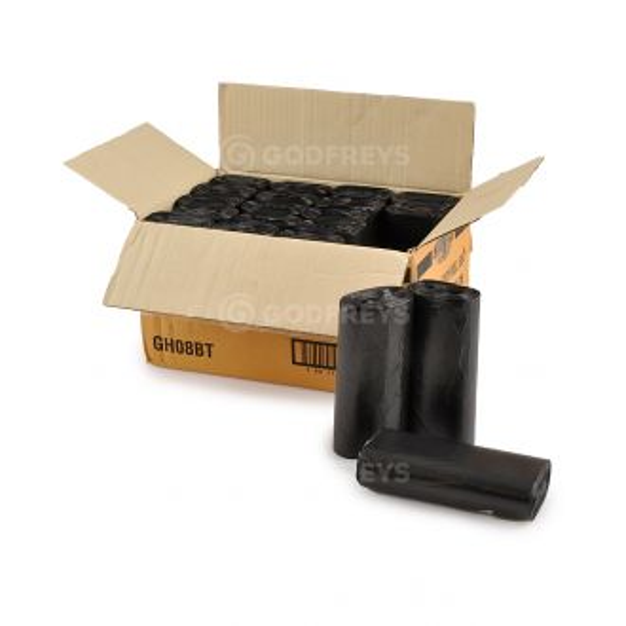 Disposable Bin Liners - 36L Black 1000ctn  - Godfreys
