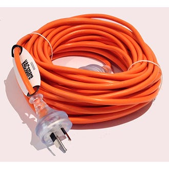 Extension Cord Orange 20m x 10amp x 3 core  - Godfreys