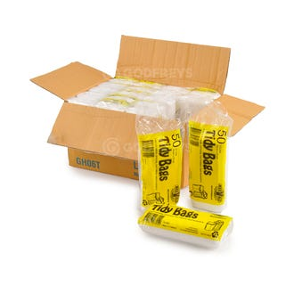 Disposable Bin Liners 27L White 1000ctn  - Godfreys