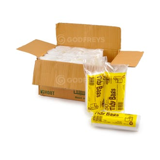 Disposable Bin Liners - 36L White 1000ctn  - Godfreys