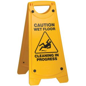 Oates Non-Slip Wet Floor Sign Yellow  - Godfreys