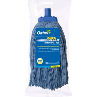 Oates 400gm DuraClean Mop Head Blue  - Godfreys
