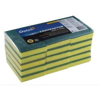 Oates Contractor Scourer Sponges 15pk  - Godfreys