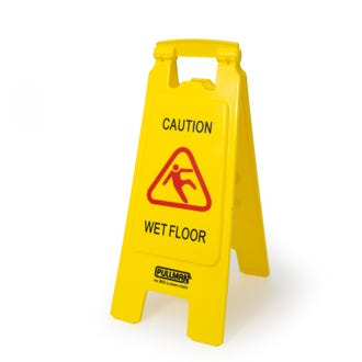 Pullman Caution Wet Floor Sign Yellow  - Godfreys
