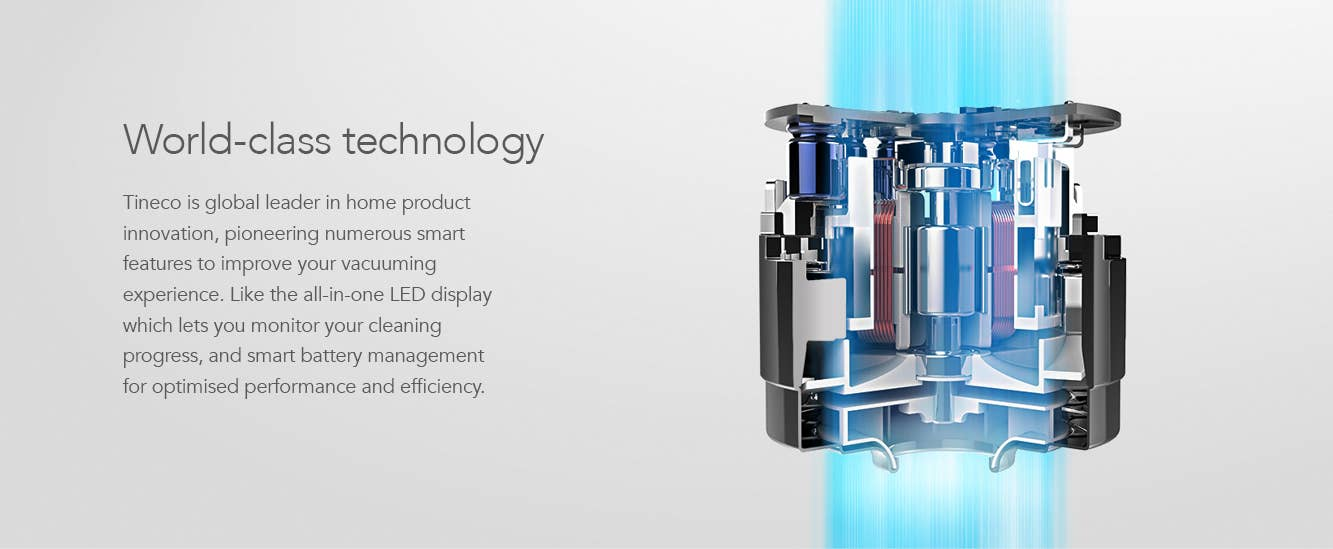 Technology inside Tineco stick vacuums