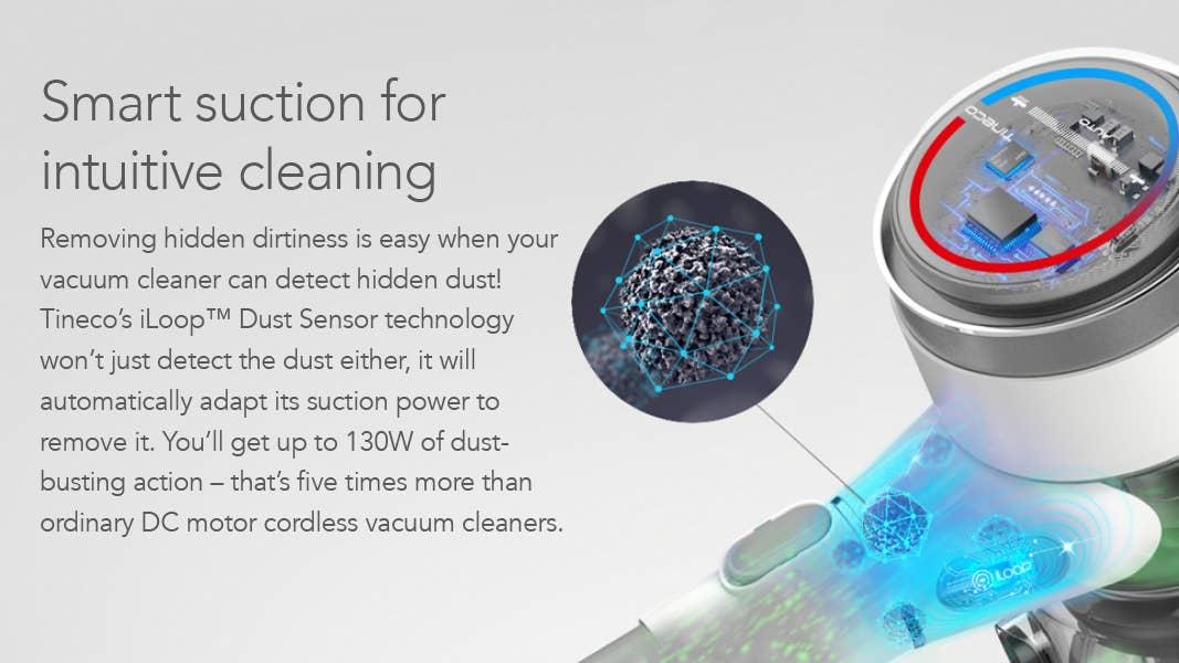 Tineco iLoop dust sensor technology