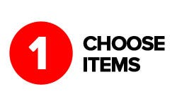 Click & Collect Step 1 - Choose items