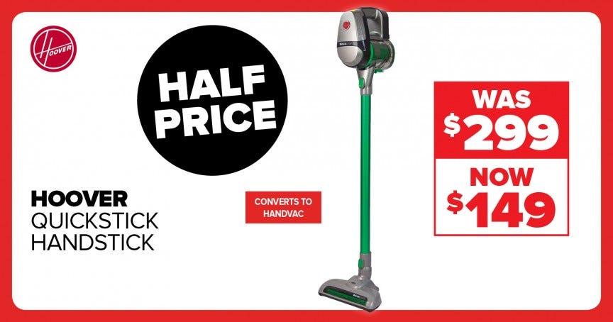 Hoover quickstick handstick vacuum, now $149