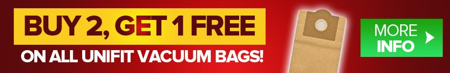 Buy 2, Get 1 free on all Unifit vacuum bags!