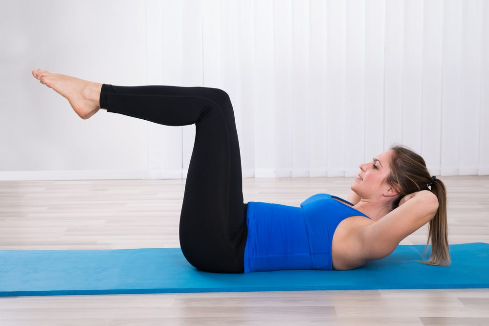 Woman doing an ab workout