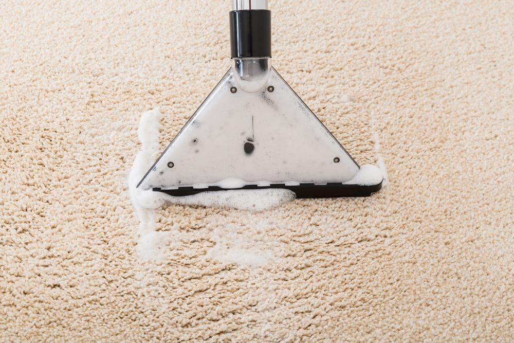 A carpet cleaner is the best way to clean carpet