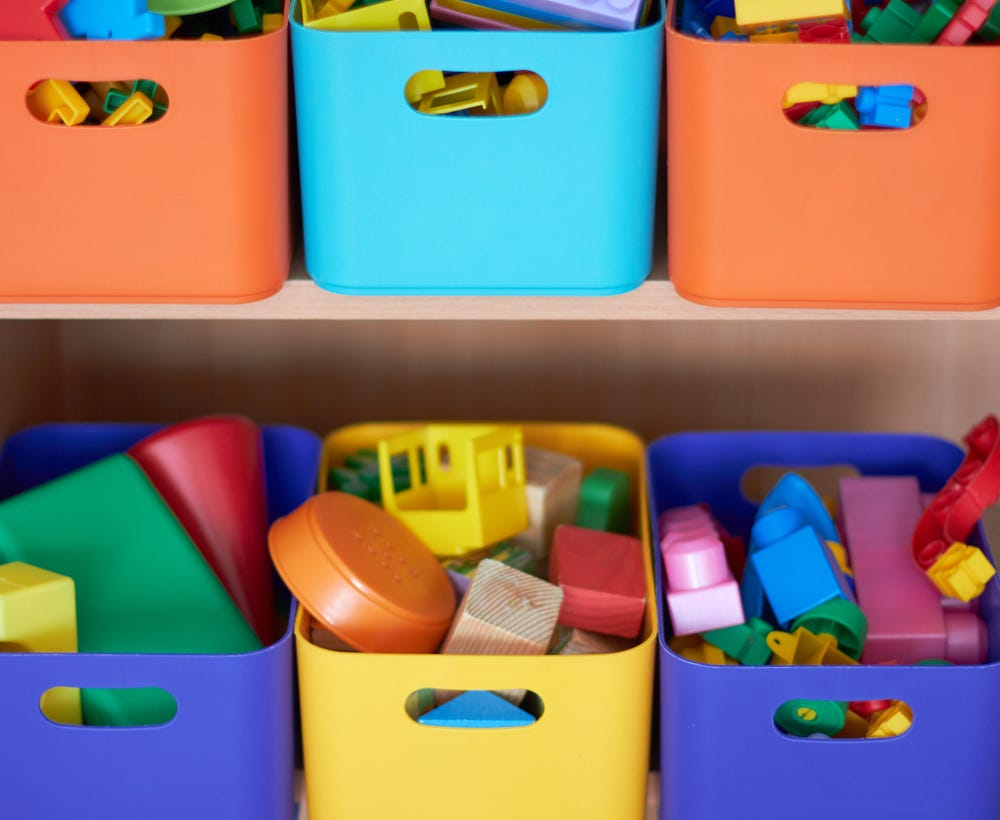 Storage keeps messy child's room organised