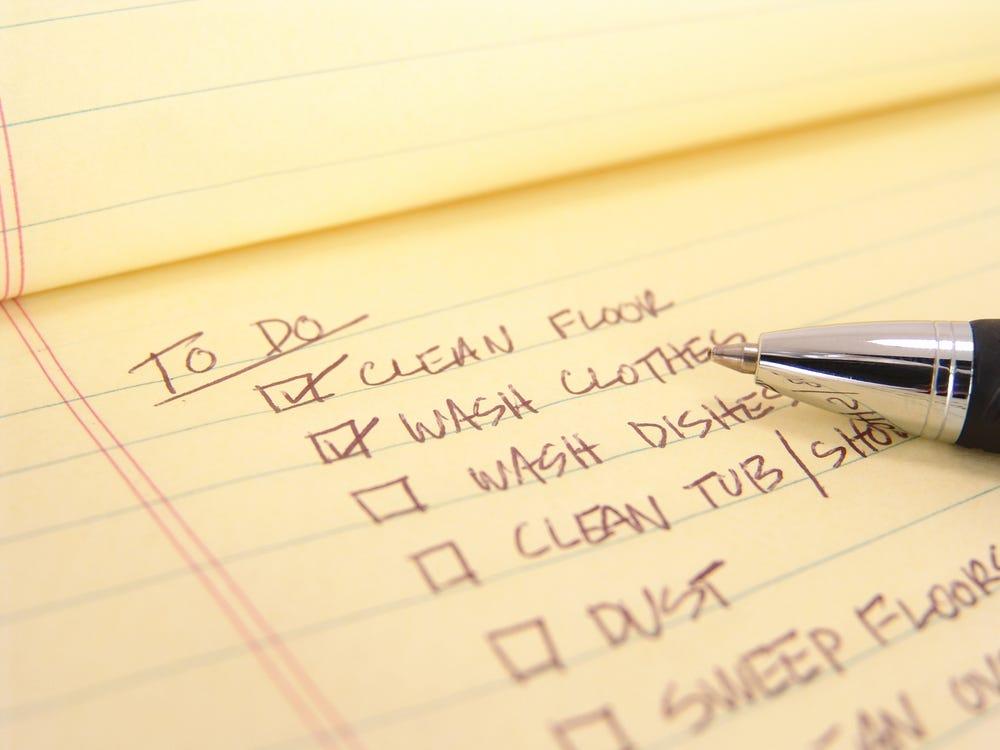 Housework list