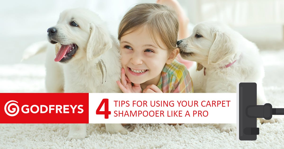 How to use carpet shampooer like a pro