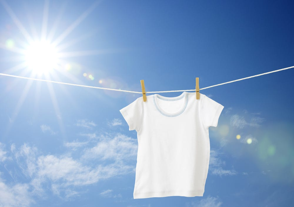 T-shirt on washing line