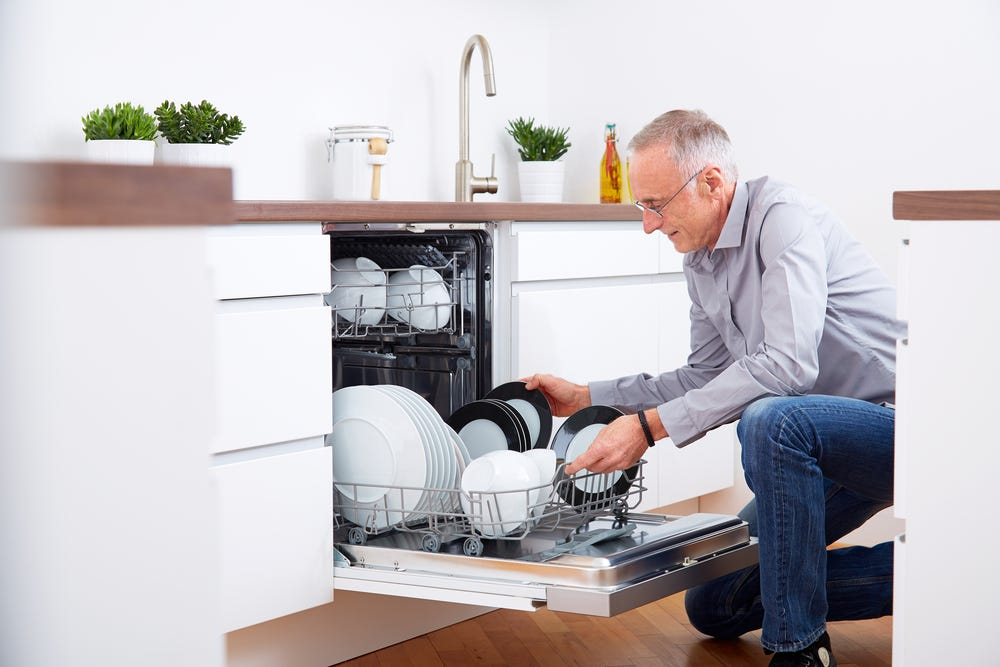 Unpacking dishwasher